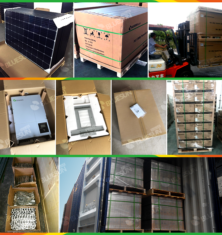 20KW grid tied solar power system 20kva power plant solar power system kits complete