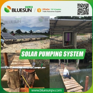 solar power submersible water pump irrigation system