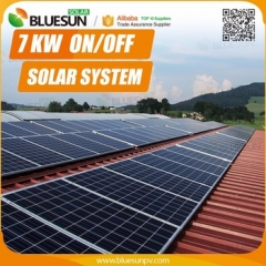 7KW Off-grid solar power system 7000w solar system with 7kva inverter