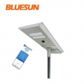 lampu jalan led bluesun 50w 80 watt solar outdoor 100w all in one street light solar