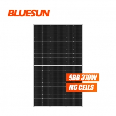 Bluesun 166mm big module 370w perc half cell mono solar panel